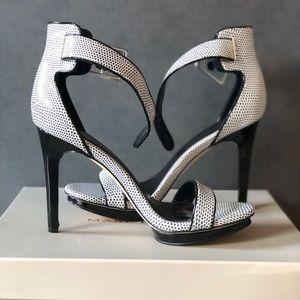 Calvin Klein | Black & White Print Heel Sandals